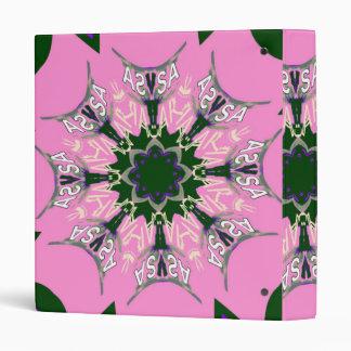 Beautiful baby pink  purple shade motif monogram vinyl binders
