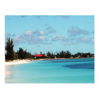 Beautiful Bahamian Beach Postcard