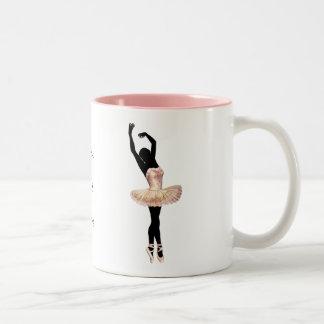 Beautiful Ballerina in pink Two-Tone Mug