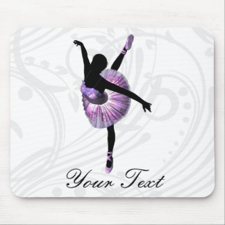 Beautiful Ballerina in purple Mouse Pad