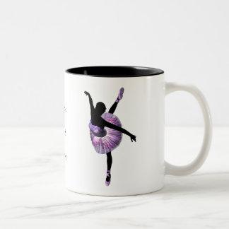 Beautiful Ballerina in purple Two-Tone Mug