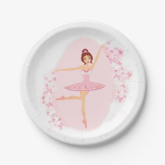 Beautiful ballerina  Paper Plate