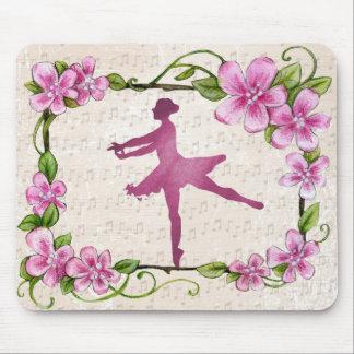 Beautiful Ballet Ballerina Pink Mouse Pad
