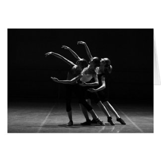 Beautiful Ballet Black and White Blank Card