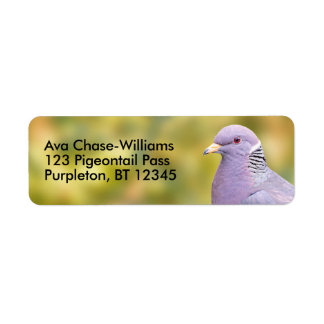 Beautiful Band-Tailed Pigeon in My Backyard Return Address Label