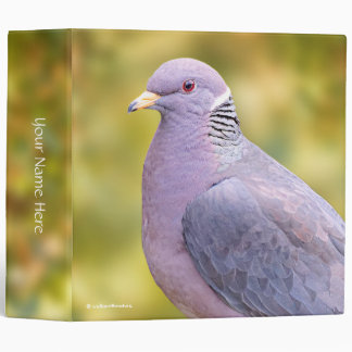 Beautiful Band-Tailed Pigeon in My Backyard Vinyl Binder