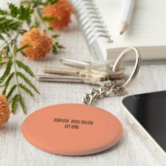 Beautiful basic button key ring basic round button keychain