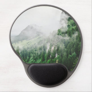 Beautiful Bavarian Germany foggy forest mountains Gel Mouse Pad