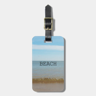 Beautiful Beach Bliss With Gentle Wave Luggage Tag