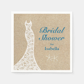 Beautiful Beach Bridal Shower Napkin Disposable Napkins