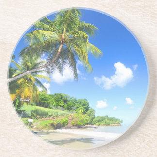 Beautiful beach drink coasters
