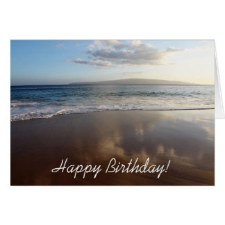 Beautiful Beach Happy Birthday Card