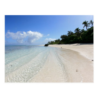 beautiful beach in Tonga Postcard