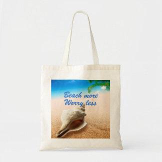 Beautiful Beach More Worry Less Tote Bag