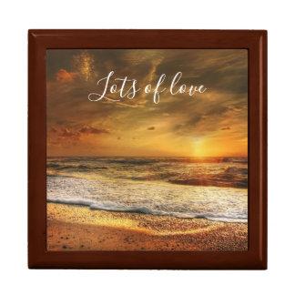 Beautiful Beach / Ocean Sunset Lots of Love Gift Box