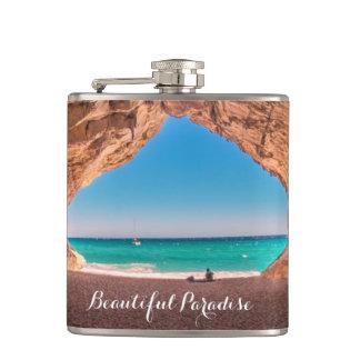 Beautiful Beach Paradise Hip Flask