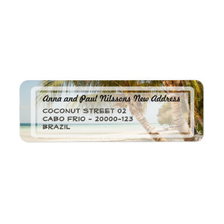Beautiful Beach Scene Address Label