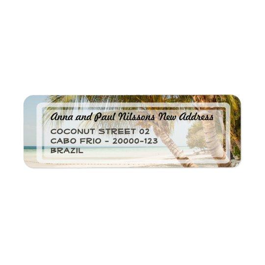 Beautiful Beach Scene Address Label