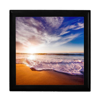 Beautiful Beach Scene at Sunset Gift Box