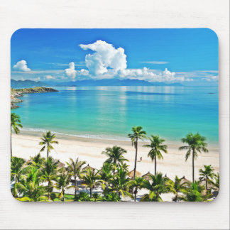 Beautiful Beach Scene Mouse Pad