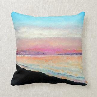Beautiful Beach Sunset In Pastels | Throw Pillow