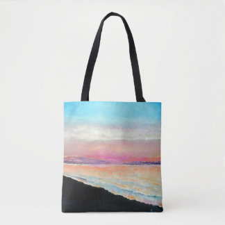 Beautiful Beach Sunset In Pastels | Tote Bag
