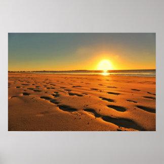 Beautiful Beach Sunset Poster