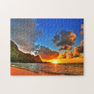 Beautiful Beach Sunset Puzzle