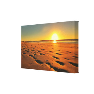 Beautiful Beach Sunset Stretched Canvas Print