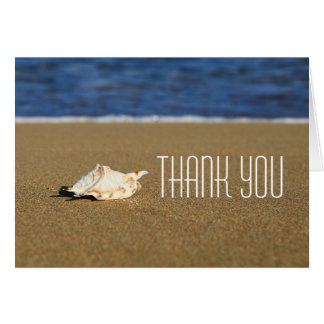 Beautiful Beach Waves | Seashell Nautical Wedding Card