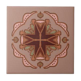 Beautiful Beaded Cross Tile