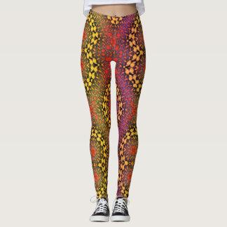 Beautiful Beaded Pattern Womens Leggings