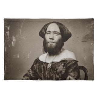 Beautiful Bearded Lady Placemat