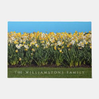 Beautiful Bed of Daffodils Doormat