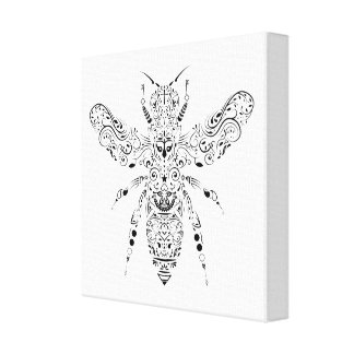 beautiful bee canvas print