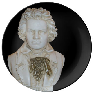 Beautiful Beethoven Bust Dinner Plate Porcelain Plates