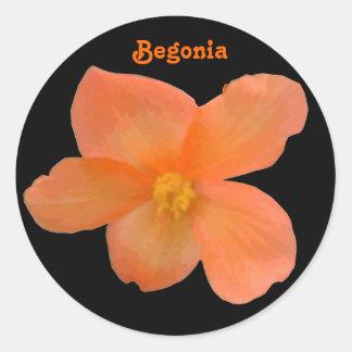 Beautiful Begonia Customizable Sticker