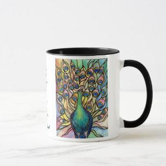 Beautiful Being  Tiffany Peacock Mug Fine Art
