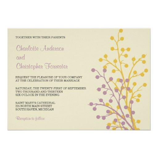 Beautiful Berries Custom Wedding Invitations