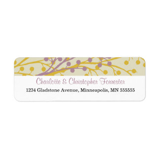 Beautiful Berries Personalized Address Labels