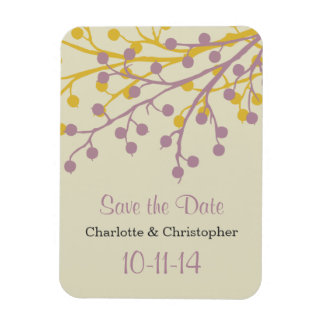 Beautiful Berries Save the Date Magnet