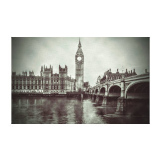 Beautiful Big Ben House of Parliament London Canvas Print