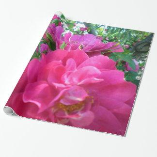 Beautiful Big Pink Roses Rose Garden Wrapping Paper