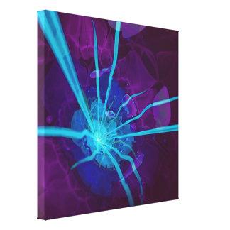 Beautiful Bioluminescent Sea Anemone FractalFlower Canvas Print