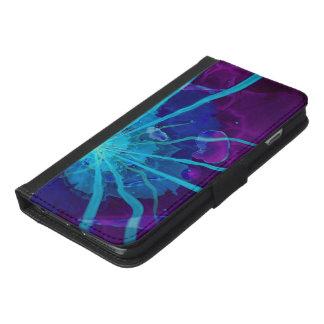 Beautiful Bioluminescent Sea Anemone FractalFlower iPhone 6/6s Plus Wallet Case