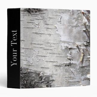 Beautiful birch bark vinyl binder