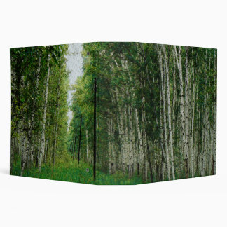 Beautiful Birch Tree Forest Art 3 Ring Binder