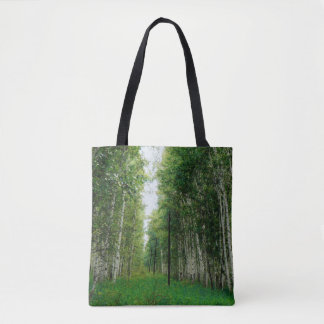 Beautiful Birch Tree Forest Art Tote Bag