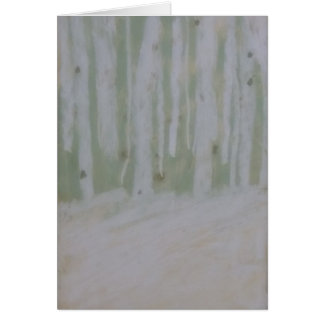 Beautiful Birches on Snow-Softened Forest Floor Card