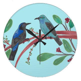 Beautiful Bird Couple Clocks